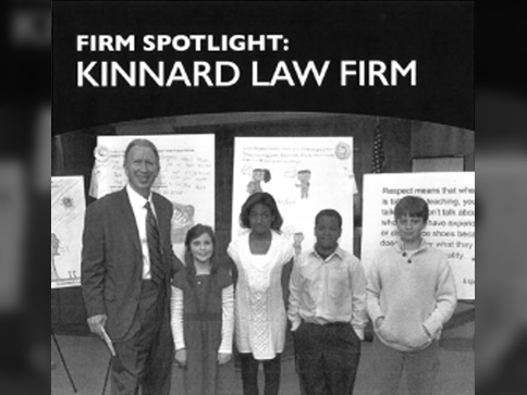 Front cover of law firm's newsletter